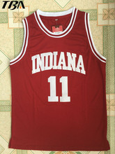 2017 Men New Cheap Throwback Basketball Jersey Isiah Thomas #11 1981 Indiana Hoosiers College Jersey Retro Vintage Shirts(China)