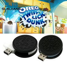 Hot sale food cookie USB flash drive pen drive 64GB 8GB 16GB 32GB 4GB pendrive Oreo Biscuit memory stick U disk usb2.0 fun Gifts(China)