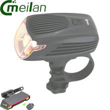 Buy meilan x5 Bicycle Light Cycling Bike Lamp Laser LED Wireless Remote Control & Meilan X1 flashlight led Front Light Head lights for $40.94 in AliExpress store