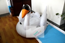 2017 New Intex Swan Ride On Inflatable White Swan Pool Float Cheap Price Swimming Pool Swan Float Lounge Raft For Sale,0.3 mm(China)
