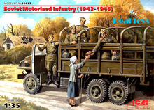 New Arrivial! ICM model 35635 1/35 Soviet Motorized Infantry (1943-1945), (5 figure) plastic model kit(China)
