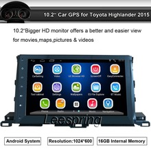 1024*600 Android Car Audio Video Player Stereo Suit to Toyota Highlander 2015 GPS Nav Support Wifi BT,Smartphone Mirror-link(China)