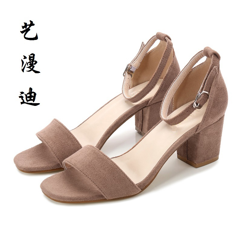 2017 Small Size 31-43 Fashion Rough heel Sexy Women Sandals High Heels Ladies Pumps Shoes Summer Style Chaussure Femme 32 33 34<br>