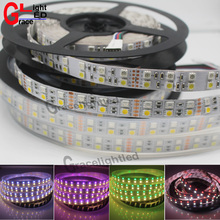 5M Double Row 5050 SMD 600 RGBW RGBWW RGB White Flex LED Strip light 120led/M IP20 / IP66