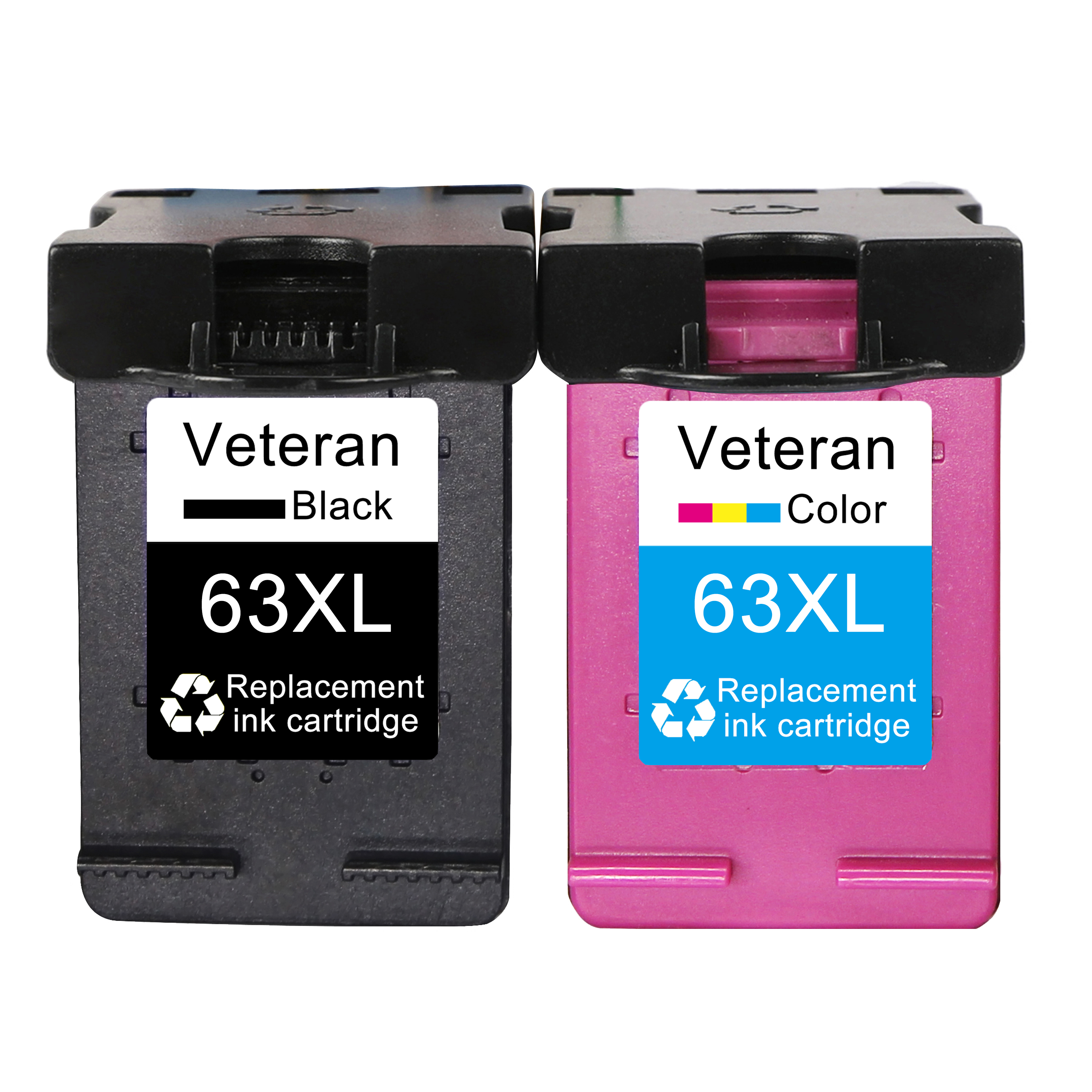 Veteran Cartridge Compatible 4250 2132 63XL Hp63 5220 2130 3630 Deskjet 5230 for 2131 title=