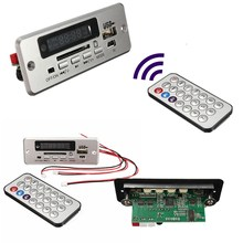 Wireless 5V MP3 Player Integrated WMA Decoder Board Audio Module USB TF Radio For Car Red Digital LED With Remote controller