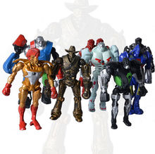 New 8pcs Movie Real Steel Zeus Atom Midas PVC Action Figures Toys Collection 13CM