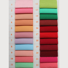 2 Meters Twill 100% Polyester 150cm Width Dyed DIY Fabric for Sewing Clothes Uniform Outdoor Products 132 Colors to Choose