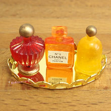 Dollhouse Miniature 1:12 Toy Bathroom French Perfume Tray Set L3.8cm SPO330