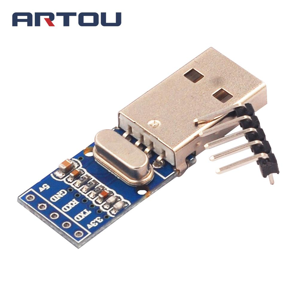 1PCS USB to TTL PL2303 Brush Line Blue Double Sided Ultra Small