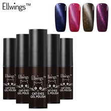 Ellwings Magnetic Cat Eyes Gel Polish Wonderful UV Gel Nail Polish Gel Lacquer Lak Clear Shine Gel Varnish DIY Nail Art(China)
