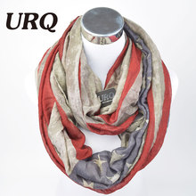 Winter Warm Neck Scarves New America Flag Print Fan Ring Scarf Tube Scarfs Infinity Woman Scarf V8A18431(China)