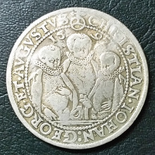 1592 GERMANY SAXONY THALER Silver coin