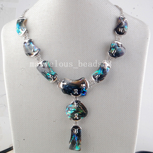 Free Shipping Beautiful jewelry New Fashion New Zealand  Abalone Shell Art Women Men Necklace 1pcs PG6726