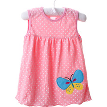 Top Quality 2017 baby girls dress Baby Dress  Princess 0-2years Girls Dress Cotton Clothing Dress Summer Girls Clothes Low Price