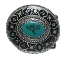 Retail Oil Paint Belt Buckle Metal Western Belt Buckle With Pewter Finish For Mens Cowboys Belt free shipping