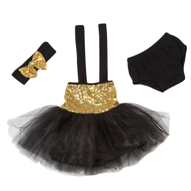 Sparkle Baby Halter Dress,Black &amp; Gold Gift Set,Birthday outfit,baby birthday girl dress,sequin baby dress,tutu dress<br><br>Aliexpress
