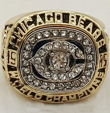 Factory direct sale 1985 Chicago Bears Super Bowl gold plated world Championship Ring Custom Sports Replica Jewelry