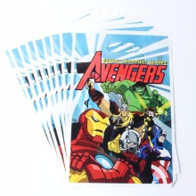 50pcs/lot The Avengers Loot Bag Party Supplies Minnie Mermaid Unicorn Sofia Dora Kids Birthday Decoration Gfit Loot Bag Event(China)