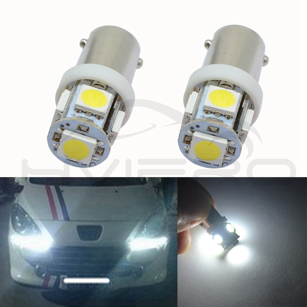 Hviero CAR Led Door Lights Ba9s 5Smd 5050 T4W White Red Green Blue 182 145 Car Marker Lamps Auto Led Tower Bulb Tail Light Wedge Lamp
