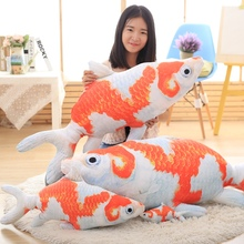 20-120cm Large Size plush Toys 2017 New Style goldfish plush Toys Cute China Fish Cloth Doll pillow Cushion Stuffed plush baby(China)