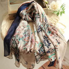 2016 Top Quality Silk Floss Scarf Women Fashion Imitated Silk Satin Scarves Scarfs Shawl Hijab Bandana Foulard Bufandas Pashmina