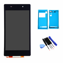 "5.0"" For Sony Xperia Z2 D6502 D6503 D6543 L50W LCD Display with Touch Screen Digitizer Full Adhesive Tapes Free Tools"