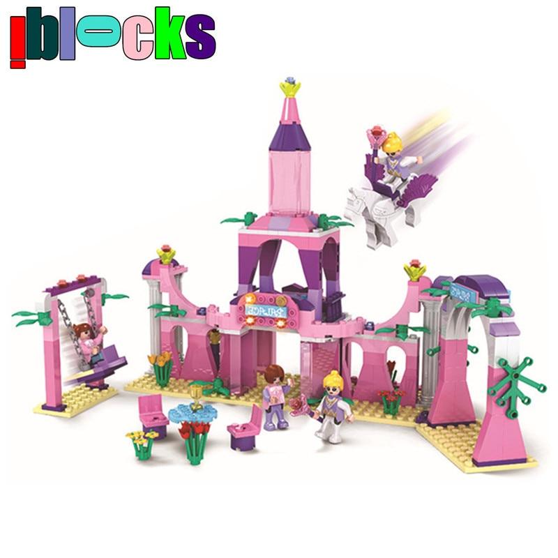 IBLOCKS Dream World Castle Prince and Princess Figure Building Blocks Friends Set Educational Children Toys For Girl<br><br>Aliexpress