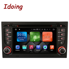 Idoing Android6.0/2G RAM/32G ROM/8Core/2Din For Audi A4 Car DVD Player Multimedia Video Head Device Stereo WiFi 3G TV Fast Boot