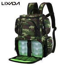 Lixada Fishing Reel lure Bag Backpack Fishing Lures Bait Box Storage Bag with 4 Fishing Tackle Box for Pesca(China)