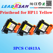 3pcs HP11 Yellow C4813A Printhead for hp OfficeJet 9110 9130 1000 1100 1200 2200 2280 2300 2600 2800(China)