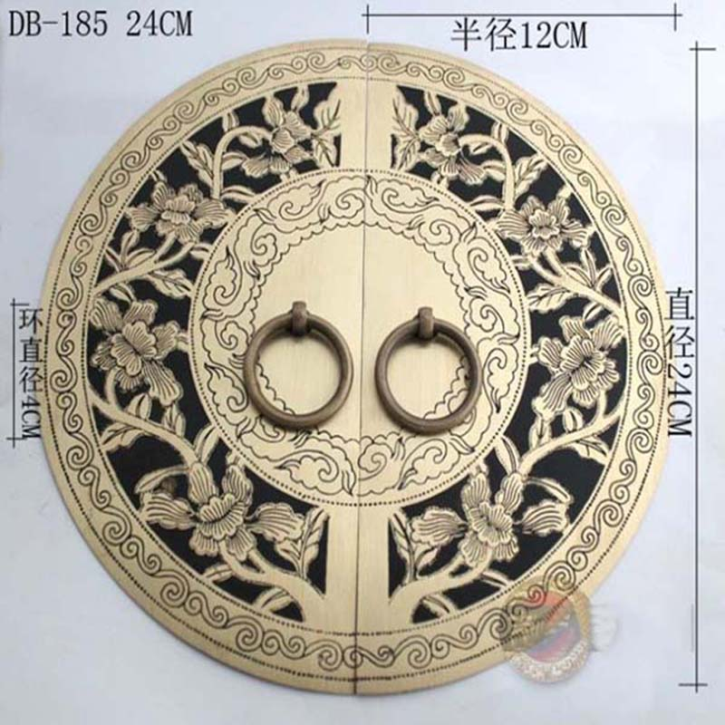 240mm Chinese antique Ming and Qing furniture, copper door copper door handle round DB-185 KF208<br><br>Aliexpress