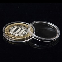 27MM 10Pcs Clear Round Boxed Lighthouse Coin Holder plastic Capsules coin box display cases(China)