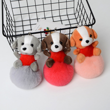 JKP 2017 new pompom Luxury rabbit keychains puppy pendant plush toy bag jewelry rex fur ball pokemon dolls GS-49 - high-grade stores store