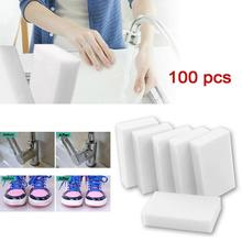 Magic Sponge100pcs/lot 100*60*20mm Melamine Sponge Eraser Multi-Functional Cleaner Eco-Friendly White Kitchen Magic Eraser Nano(China)