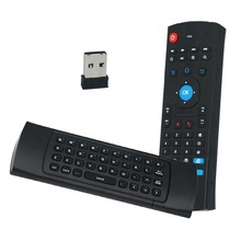 New Hot MX3 Portable 2.4G Wireless Remote Control Keyboard Controller Air Mouse for Smart TV Android TV box mini PC HTPC black