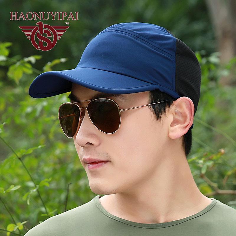 Hot Sale Men Caps Summer Mesh Cotton Bone Baseball Caps Outdoor Hiking Camping Sun Visor Soft Material Gorras Sport Travel Hats<br><br>Aliexpress