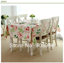 Free shipping-Garden pure color Pure cotton canvas fabric cloth only 1pcs table cloth-YD017
