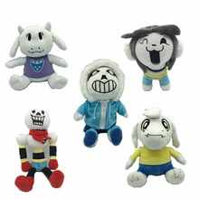 5pcs/set 30cm Stuffed  Plush Toy Undertale Sans Papyrus Asriel Toriel Temmie Undyne  Japan Plush Foxy Toys