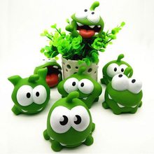 1Pcs Rope Frog Vinyl Rubber Android Games Doll Cut The Rope OM NOM Candy Gulping Monster Toy Figure with Sound(China)