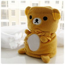 1 m * 80cm Rilakkuma plush toys cute plush blanket roll small blanket Christmas gift free shipping
