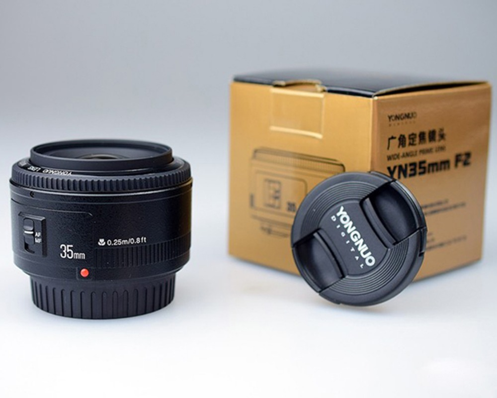 YONGNUO 35mm Lens YN35mm F2 Lens AF / MF Wide-Angle Large Aperture Fixed/Prime Auto Focus Lens For Canon EF Mount EOS Camera<br><br>Aliexpress