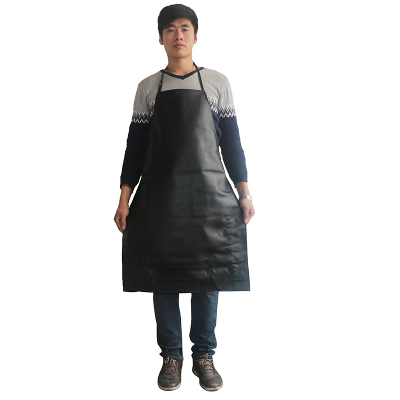 Waterproof Aprons Oil-proof Pu Leather Bib Apron Labor Working Protective Clothing For Canteens Kitchen Restaurants (3)