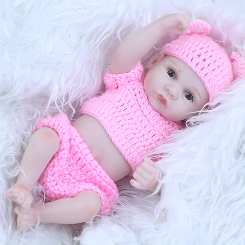 Realistic Mini Silicone Reborn Baby Doll 11 Inch 27 CM Newborn Princess Girls Babies Alive Toy Kids Accompany Sleep Toy<br><br>Aliexpress