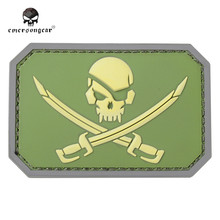 Emerson 1 PC Skull Special Forces 3D PVC Patch Pirate Skull Rubber Patches Morale Military Armband Tactical Army Badge EM5553