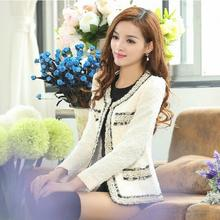 New Women Spring Autumn coat short design Elegant lace stitching slim Long sleeve Small Outerwear jacket s266