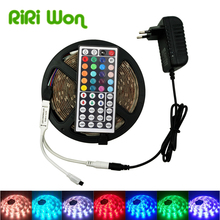 RIRI Won Led Strip 5M 10M Waterproof Ribbon RGB LED Light SMD 5050 LED Flexible Strip DC12V, 4M 8M RGB LED Tape Full Sets
