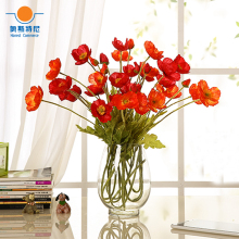 5pcs artificial flower bouquets artificial corn poppy flowers bouquets&Papaver rhoeas&Coquelicot bunches
