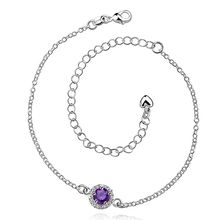 silver plated Anklet,New Design Fashion Jewelry,Delicate Handmade Cheap Anklets SMTA038-D
