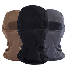 Black Balaclavas Windproof Quick-Drying Masks Breathable Anti UV Soft Full Face Mask Motorcycle Tactical Hats